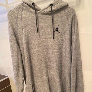 Vintage Gray Nike Air Jordan hoodie.
